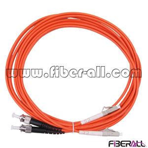 LC to St mm Fiber Optical Jumper Duplex Orange Jacket pictures & photos