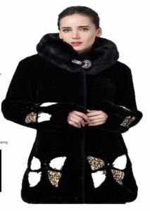Ms True Fur Coat Big Wool Collar Warm Kowl Neck pictures & photos