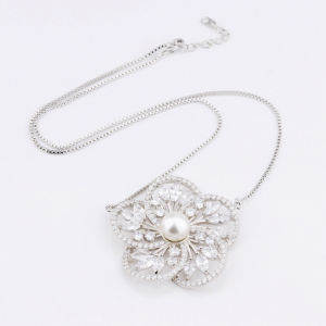 Wholesale Gold Plated Fine Zirconia Pearl Necklace Jewelry Foxi Manufacturer China pictures & photos