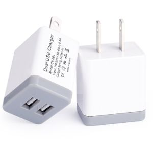 Dual USB Portable Charger Rapid Speed Power Adapter for iPhone pictures & photos