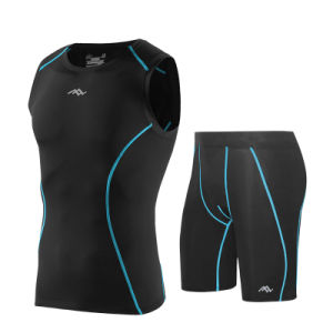 Summer Cycling Suit Compression Sports Wear Fitness Shirt for Men pictures & photos