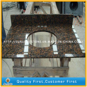 Prefab Natural Baltic Brown Granite Kitchen, Bathroom, Counter Vanity Tops pictures & photos