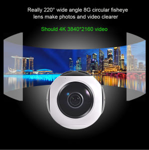 360 Degree Vr Camera 220 Degree Fisheye Sport Camera