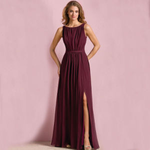 Wine Navy Party Prom Gowns Chiffon Bridesmaid Evening Dresses L9048 pictures & photos