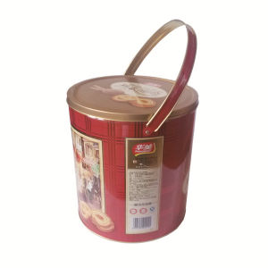 Chinese Cookies Tin Contanier with Bucket Shaped Tin pictures & photos