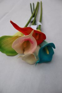 Artificial Calla Lily PVC Real Touch Bride Bouquet Flower Home Wedding Decor pictures & photos