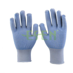 40-75g 13gauge Computer Machine PVC Dotted Gloves for Construction Use pictures & photos