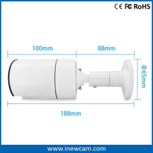 Outdoor 4MP CMOS Poe Mini IP Bullet Camera with IR 30m pictures & photos