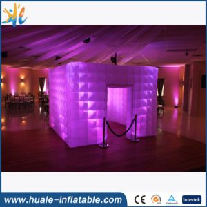 Remote Control with LED Lighting Inflatable Black Booth Tent