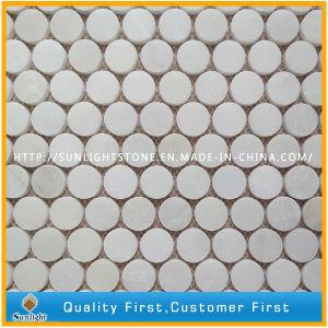 Natural Carrara White Marble Stone Wall Mosaic, White Mosaic Tiles pictures & photos