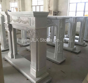 White Marble Sculpture Fireplace Stone Mantel pictures & photos