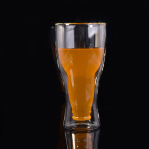 12oz Borosilicate Double Wall Beer Glass pictures & photos