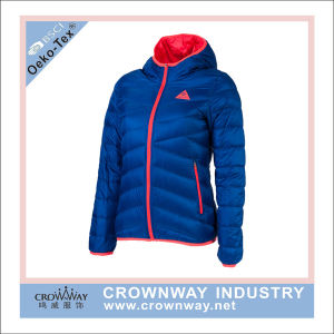 New Design Men Polyester Faked Down Padded Jacket with Hood pictures & photos