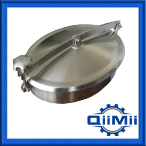 Stainless Steel Non-Pressure Elliptical Manway Cover for Food Industry pictures & photos