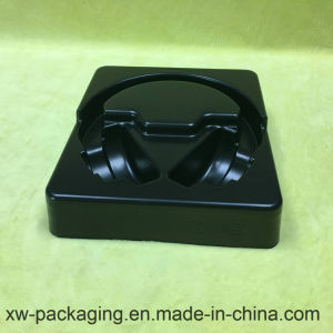 High Quality Headset Using Plastic Blister Packaging in Black Tray pictures & photos