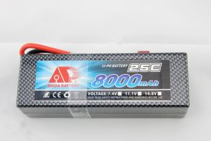 Quacopter 8000mAh 7.4V Hard Case R/C Car Ce UL Lithium Battery pictures & photos