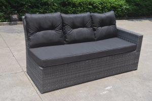 Wicker Rattan Patio Garden Loungeset Sofa Set Polywood Table Outdoor Furniture (J545-POL) pictures & photos