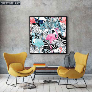 Pop Art Wildlife Flamingo Leopard Picture Butterfly Canvas Print pictures & photos