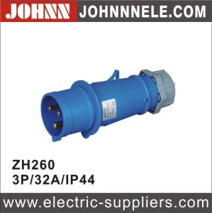 IP44 4p 32A Plug for Industrial pictures & photos