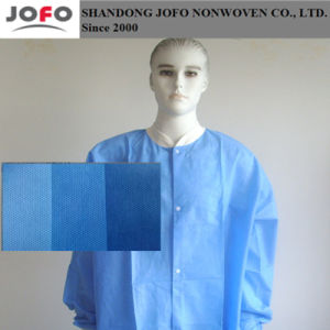 Light Blue SMS Nonwoven Fabric for Protection Suit pictures & photos