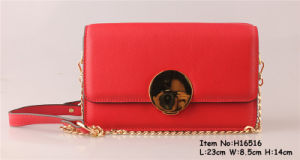 High Qualtiy PU Material Clutch Bag with Circal Metal pictures & photos