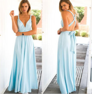 2017 Hot Sale Muliti Wearing Long Magic Sexy Bandage Women Evening Dress (17012) pictures & photos