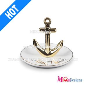 Promotion Gift Plated Gold Anchor Ceramic Rind Holder pictures & photos