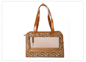 Fashion Leopard Summer Mesh Handbag Dog Outdoor Portable Carrier pictures & photos
