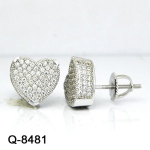 New Arrival Hip Hop Jewelry Sterling Silver Earrings pictures & photos