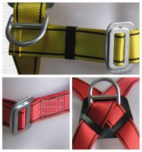 6-Point Wide Waist Belt Men Safety Body Harness with Lanyard pictures & photos