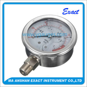 All Stainless Steel Manometer Liquid Filled Pressure Gauge pictures & photos