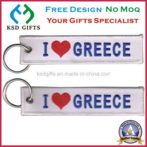 2016 Personalized Keyrings/Embroideryed Patch with Keychain pictures & photos