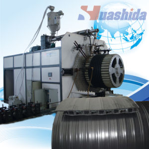Plastic Corrugated Pipe Extruder HDPE Steel Reinforced Pipe Extrusion Line pictures & photos