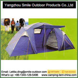 Outdoor Tourism Rain Protection Two Room Family Camping Tent 6 Person pictures & photos