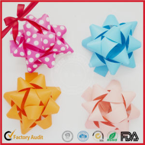 Prited Ready-Made Assorted Color Star Bow pictures & photos