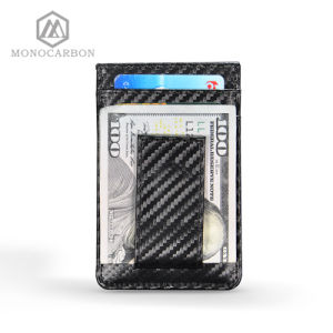 Men′s Money Clip and Front Pocket Wallet, Carbon Fiber Credit Card Holder and ID Case RFID Blocking pictures & photos