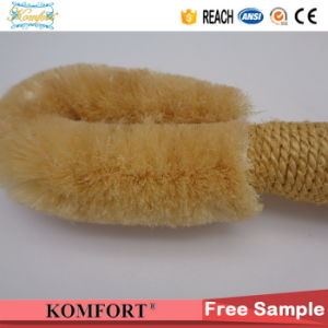 Natural Sisal Mini Wooden Dry Skin Nylon Bodar Bristle Japanese Body Brush pictures & photos