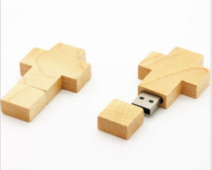 New Model Wooden USB Flash Drive Cross 8GB pictures & photos