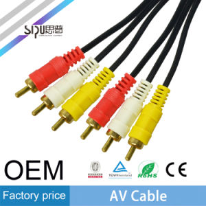 Sipu High Quality 3.5mm AV Cable for DVD PVC Cables pictures & photos