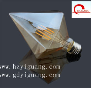 Decorative Product Amber Sharp Diamond Shape LED Filament Bulb