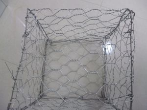 Hexagonal Mesh Hot Dipped Galvanized Gabion Box and PVC Coated Galvanized Gabion Box pictures & photos