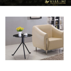 2017 China 12mm Tempered Glass Round Cocktail & Tea Table (YF-170095T)