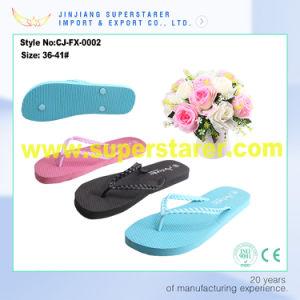 Summer Flip Flop PVC Strap PE Sole Women Slippers pictures & photos
