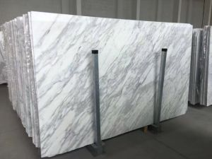 Hot Sale Cararra White Marble Big Slabs for Tiles and Vanity Tops pictures & photos