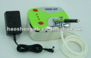 HS08-3AC-Sk Mini Air Compressor for Airbrush Makeup/Cosmetic/Tattoo/Nail Kit pictures & photos