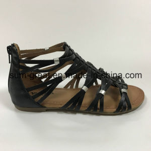 Women Sandals with PU Upper Casual Shoes with Good Quality pictures & photos