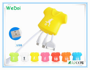 Lovely T-Shirt USB Cable 3 in 1 with Customized Logo (WY-CA33) pictures & photos