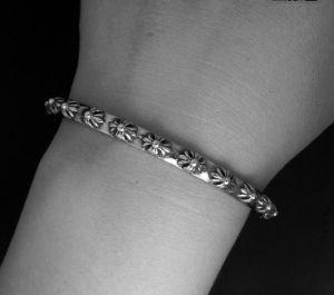 Retro Men Bracelets Flower Pattern 316L Stainless Steel pictures & photos