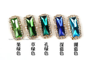 Long Rectangle Diamond Rhinestone Factory Claw Setting Rhinestone Strip (SW-long rectangle 7*21mm) pictures & photos
