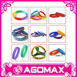 Silicone Wristband Bracelet, Customized Logos Are Accepted, Available in Various Colors